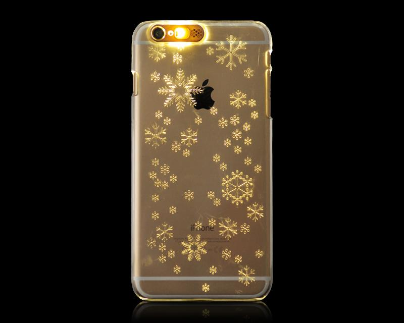 Flashing Series iPhone 6 Plus and 6S Plus Clear Case - Snowflake