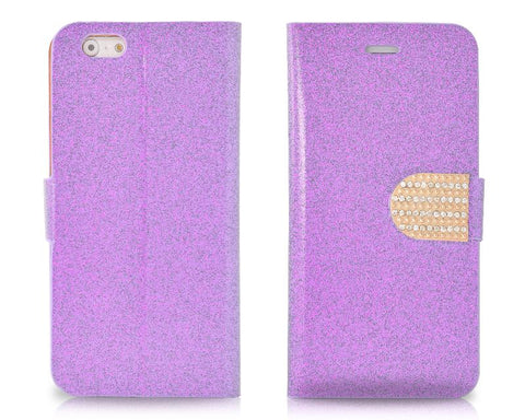 Twinkle Series iPhone 6 and 6S  Flip Leather Case - Purple