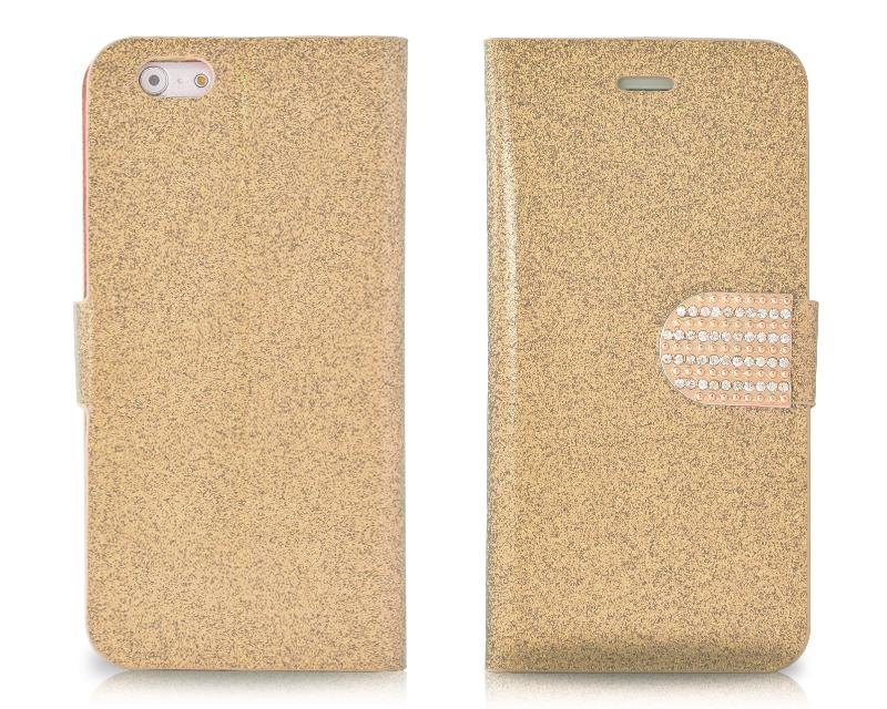 Twinkle Series iPhone 6 Flip Leather Case (4.7 inches) - Gold