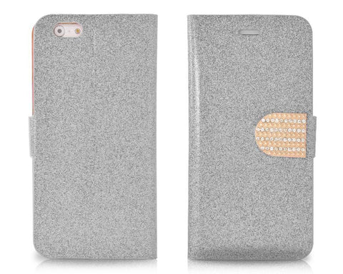 Twinkle Series iPhone 6 and 6S Flip Leather Case - Silver