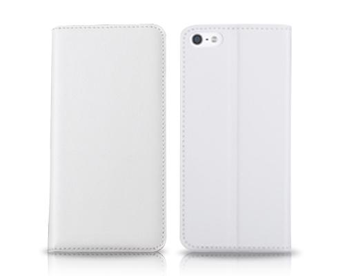 Simple Series iPhone 6 and 6S Genuine Leather Flip Case(4.7 inches) - White