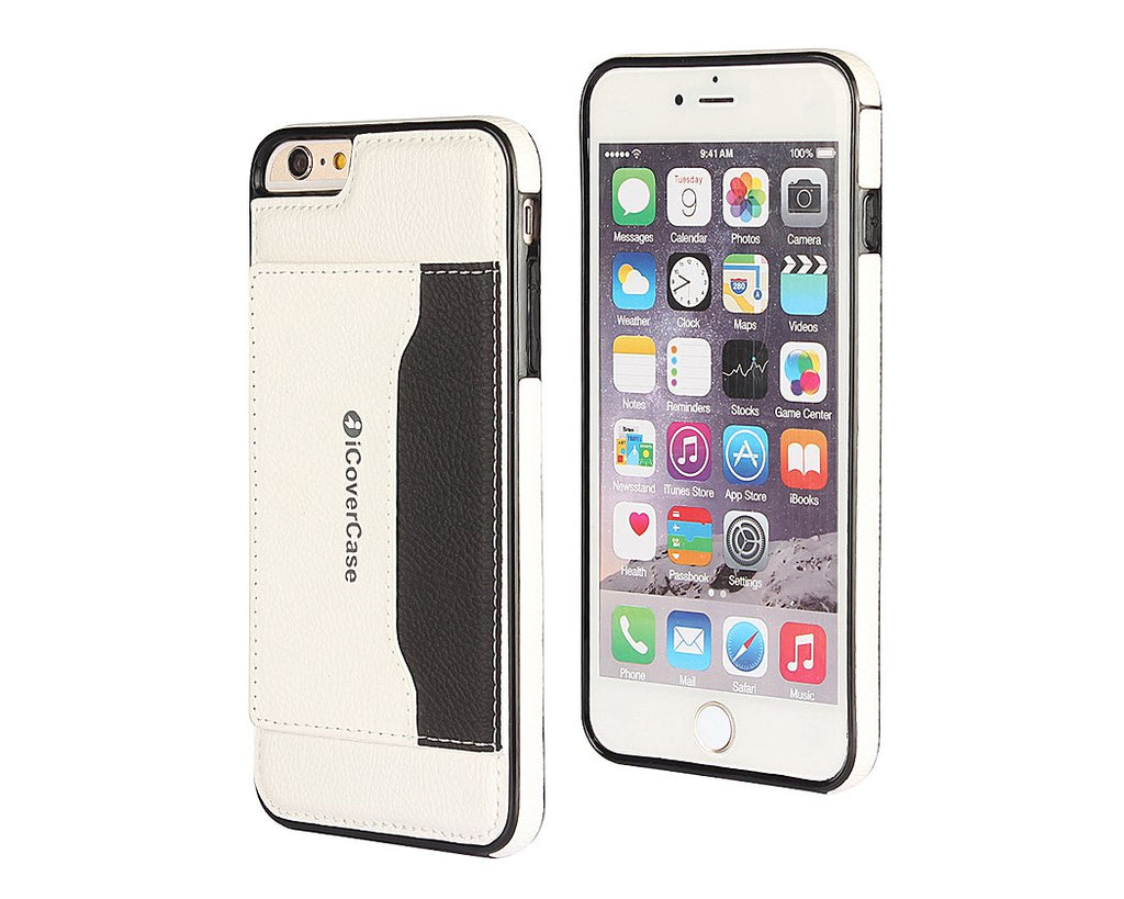 Card Slot Series iPhone 6 and 6S Leather Case - White