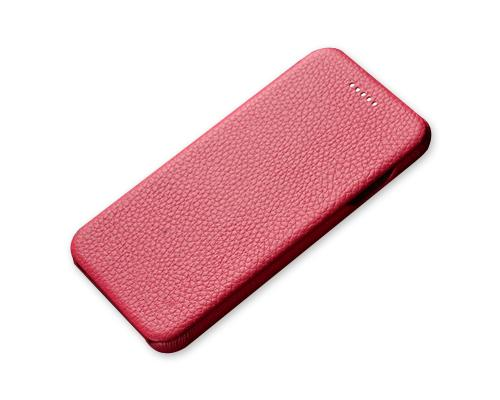 Fold Series iPhone 6S Plus Flip Genuine Leather Case - Magenta