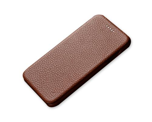 Fold Series iPhone 6S Plus Flip Genuine Leather Case - Brown