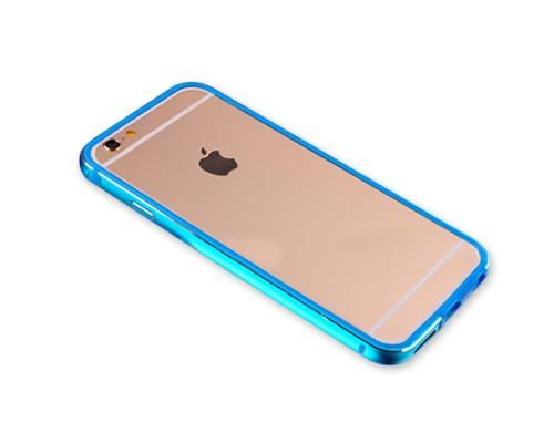Bumper Series iPhone 6S Plus Metal Case - Blue