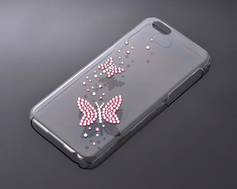 Butterfly Twins Bling Swarovski Crystal Phone Cases - Transparent