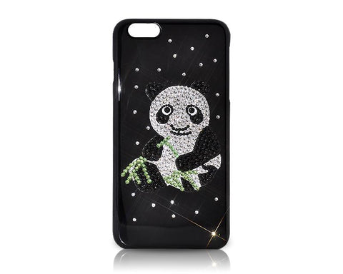 Panda in the Bamboo Forest Bling Swarovski Crystal Phone Cases