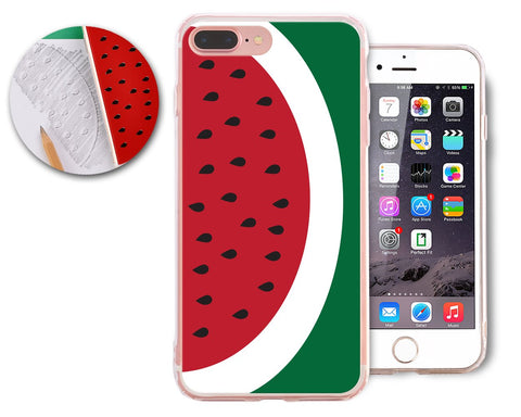 Fruit Series TPU and PC Clear Hard iPhone 7 Plus Case - Watermelon