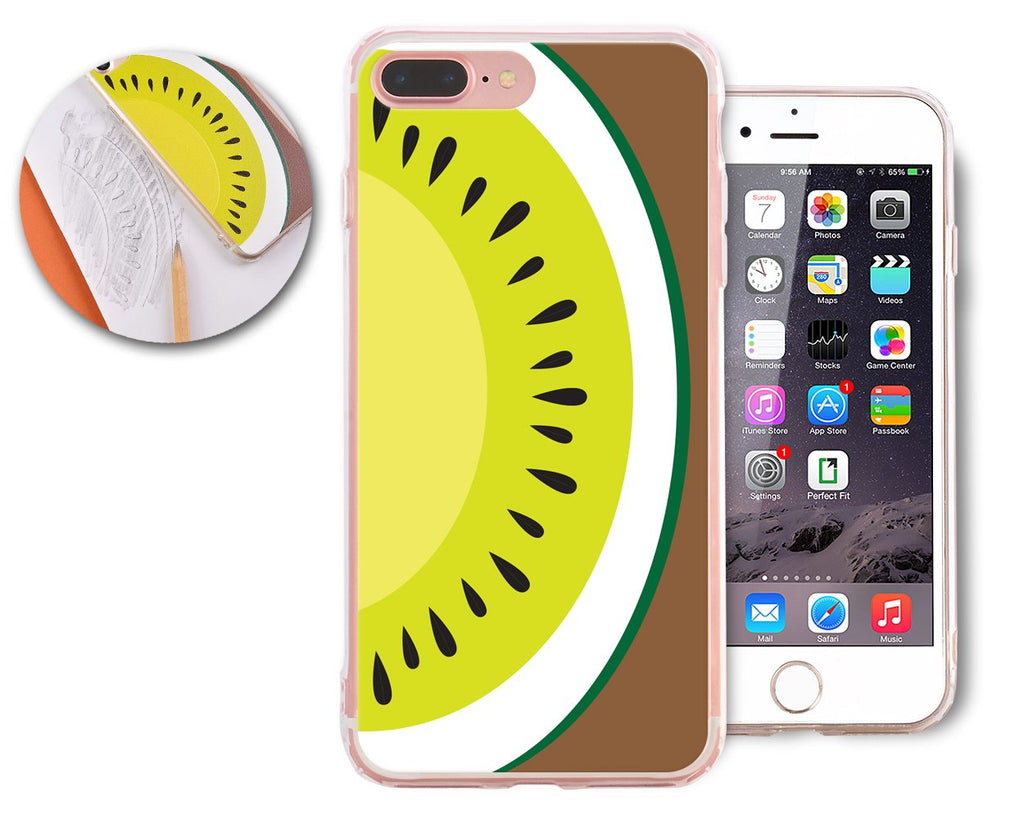 Fruit Series TPU and PC Clear Hard iPhone 7 Plus Case - Kiwi Fruit