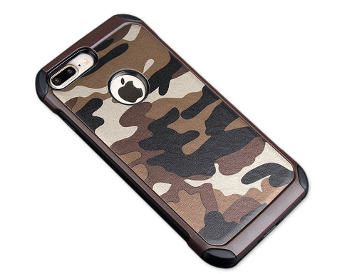 Camouflage Series iPhone 7 Plus Case - Brown