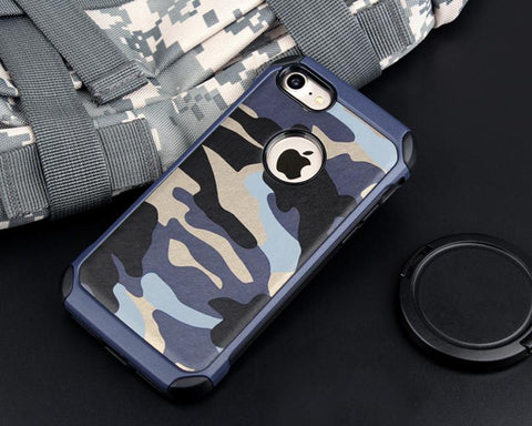 Camouflage Series iPhone 7 Plus Case - Blue