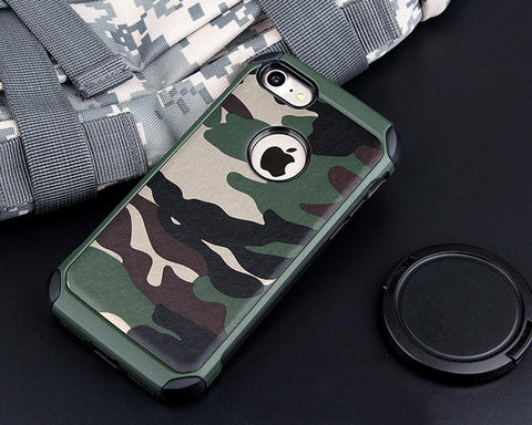 Camouflage Series iPhone 7 Plus Case - Green