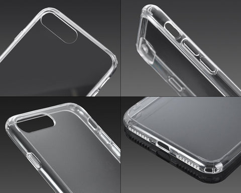 Limpio Series TPU and PC Clear Hard iPhone 7 Plus Case - Transparent
