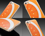 Fruit Series TPU Bumper and PC Clear Hard iPhone 7 Case - Orange