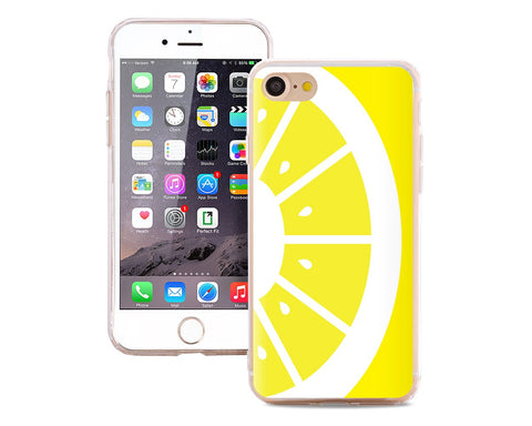 Fruit Series TPU Bumper and PC Clear Hard iPhone 7 Case - Lemon