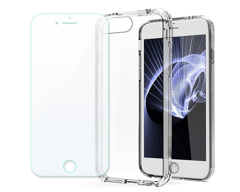 Limpio Series TPU and PC Clear Hard iPhone 8 Plus Case - Transparent
