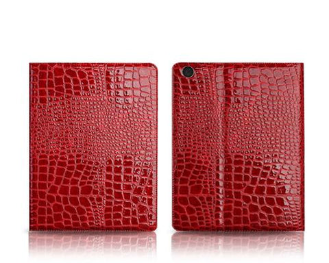 Krokodil Series iPad Air Flip Leather Case - Red