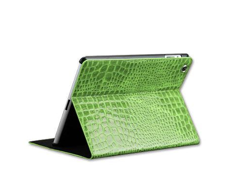 Krokodil Series iPad Air Flip Leather Case - Green