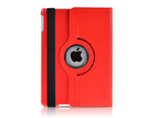 Rotating Series iPad Mini 4 Flip Leather Case - Red