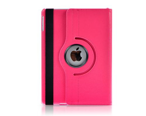 Rotating Series iPad Mini 4 Flip Leather Case - Magenta