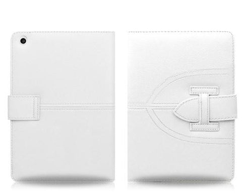 Briefcase Series iPad Mini Flip Leather Case - White