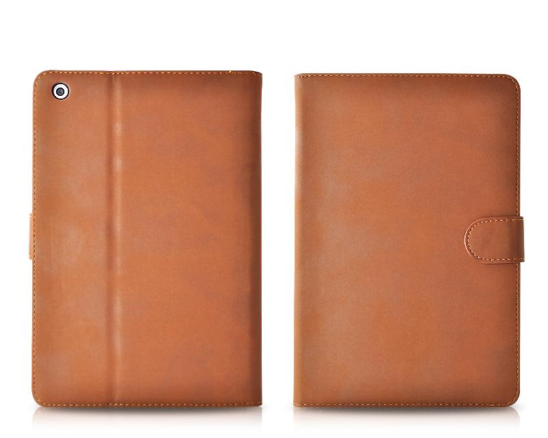 Folio Series iPad Mini Flip Leather Case - Brown