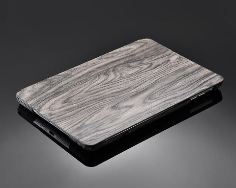 Wooden Series iPad Mini Flip Leather Case - Gray