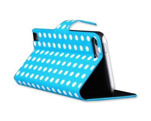 Spot Series iPod Touch 5 Flip Leather Case - Blue