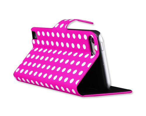 Spot Series iPod Touch 5 Flip Leather Case - Magenta