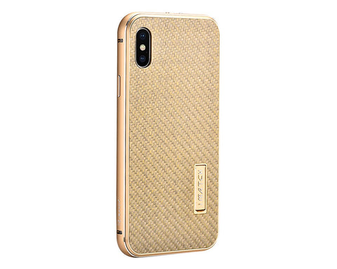 iPhone X Metal Case with Carbon Fiber Back