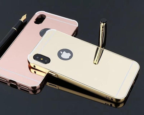 iPhone X Mirror Case Metal Frame and Back Case
