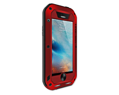 Waterproof Series iPhone SE Metal Case - Red