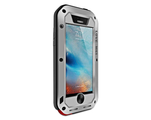 Waterproof Series iPhone SE Metal Case - Silver