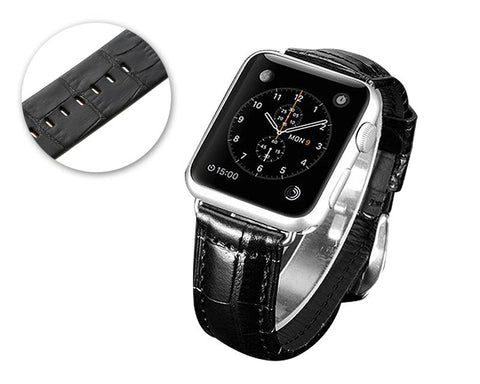 Krokodil Replacement Leather Watch Band for Apple Watch
