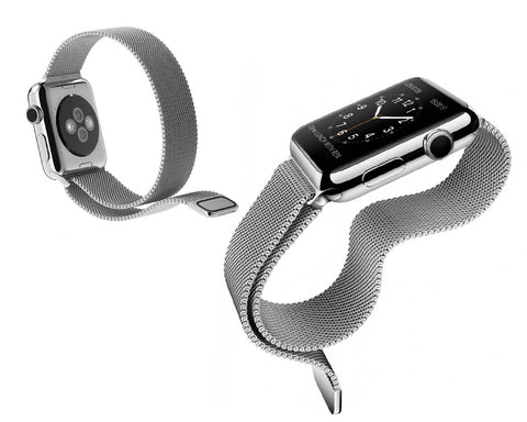 Magnet Stainless Steel Mesh Watch Band without Buckle for iWatch