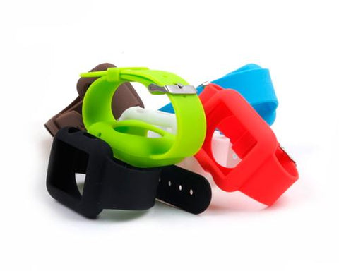 42mm Silicone Apple Watch iWatch Band Strap with Case - Black