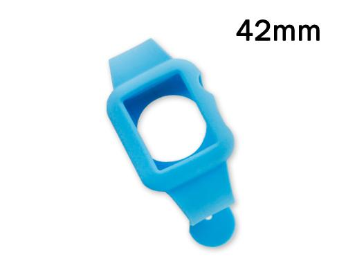 42mm Silicone Apple Watch iWatch Band Strap with Case - Blue