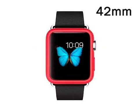 Ultra Slim TPU Case for Apple Watch 42mm - Red