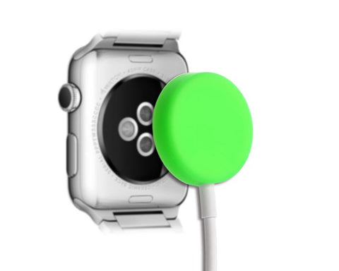 Protecitve Case for Apple Watch Charging Cable - Green