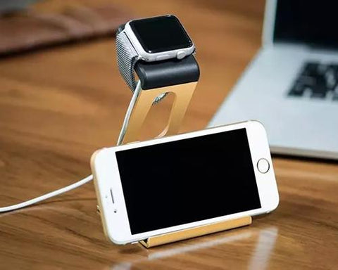 38mm/ 42mm Apple Watch Charging Stand Phone Holder - Gold
