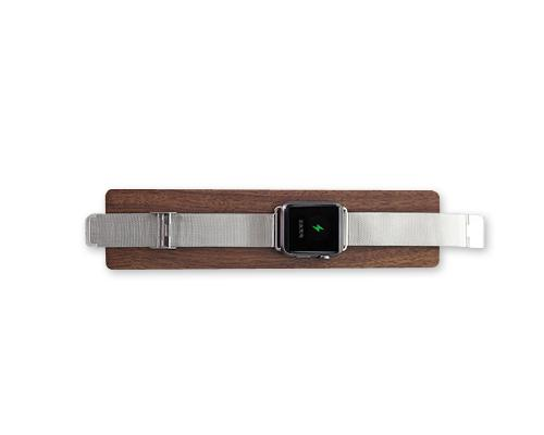 Wooden Charging Dock Station Platform for Apple Watch - Black Walnut