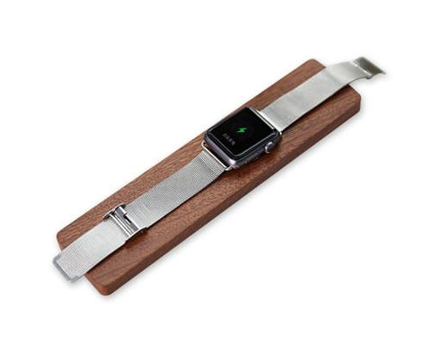 Wooden Charging Dock Station Platform for Apple Watch - Brown