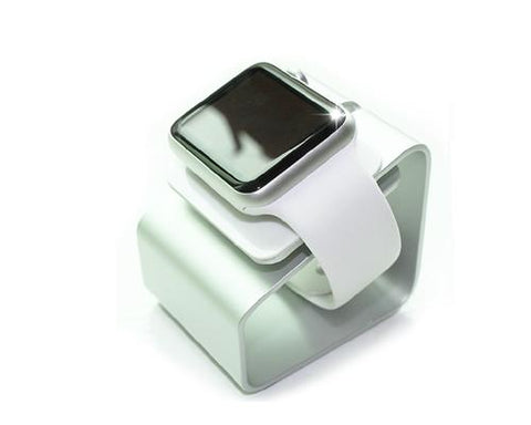Elegant Metal Charging Stand Dock for 38mm / 42mm Apple Watch - Silver