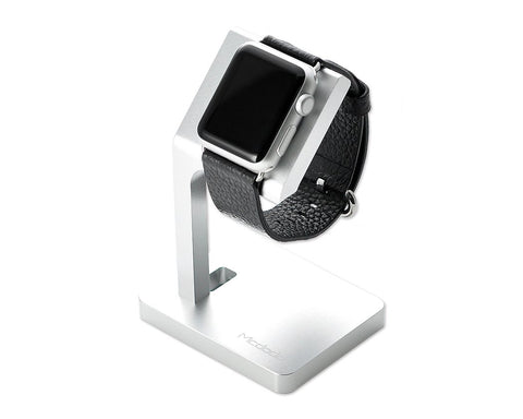 Slim Aluminum 38mm/ 42mm Apple Watch Charging Dock Stand - Silver