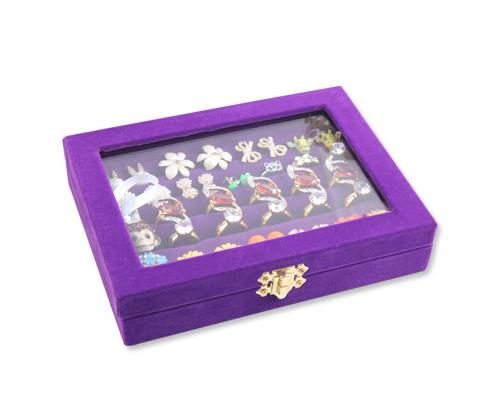 Classic Series Rings and Earrings Jewelry Box - Purple