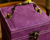 Retro Multi-purpose Three-tier Jewelry Box - Purple