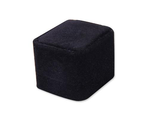 Premium Velvet Ring Box - Black