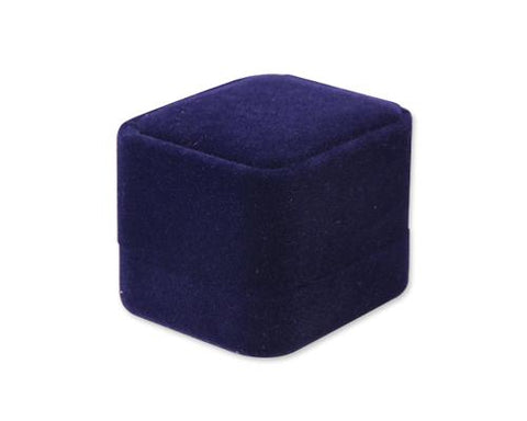 Premium Velvet Ring Box - Blue