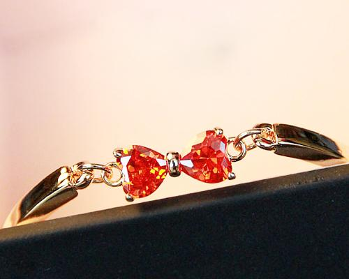 Princess Bowknot Red Crystal Bangle