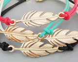 Lucky Feather Braided Bracelet - White